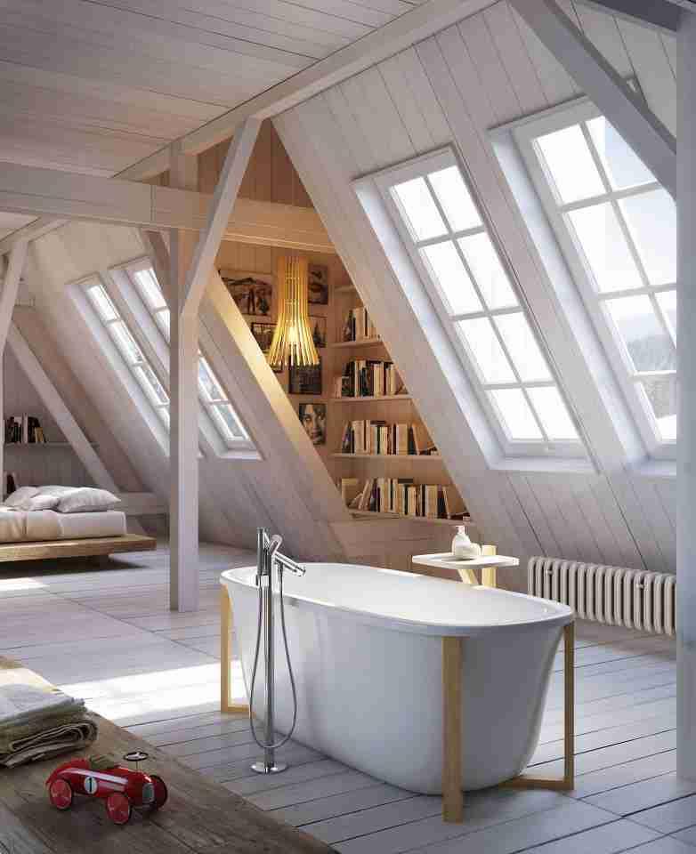 amazing, bathroom, jak urządzić łazienkę, nietypowa, okno, super, with window, z oknem, z widokiem, Łazienka, z przeszkleniem, na widoku, skos, ze skosem, poddasze, strych