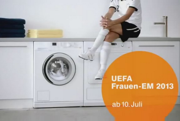 A sexist German TV ad for the women's Euro 2013 has gotten a unsurprisingly fumed response