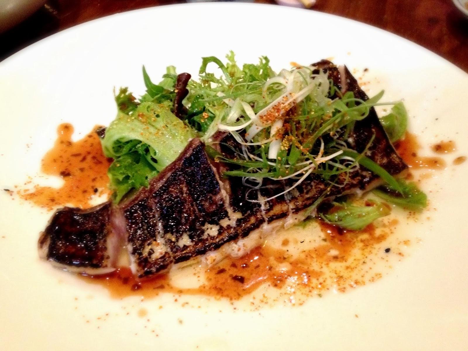 crispy skin kingfish sashimi