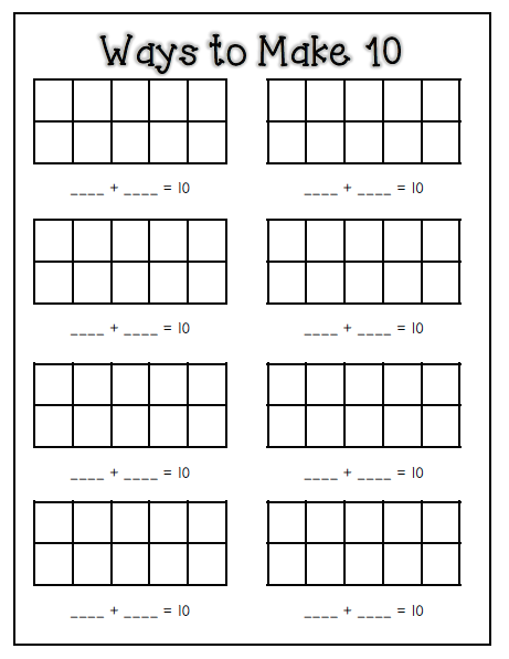 Number Names Worksheets : making 10 worksheets ~ Free Printable ...