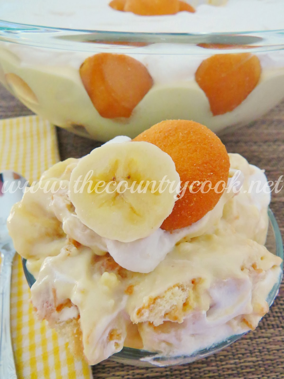 Picnic Banana Pudding - The Country Cook