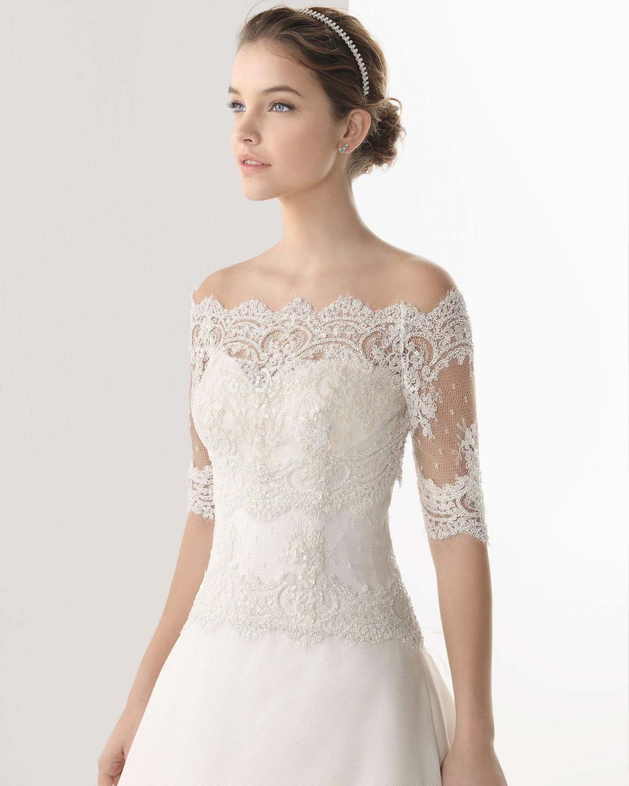 Wedding Dress With Lace Sleeves : Dressybridal wedding dresses with lace long sleeves and
