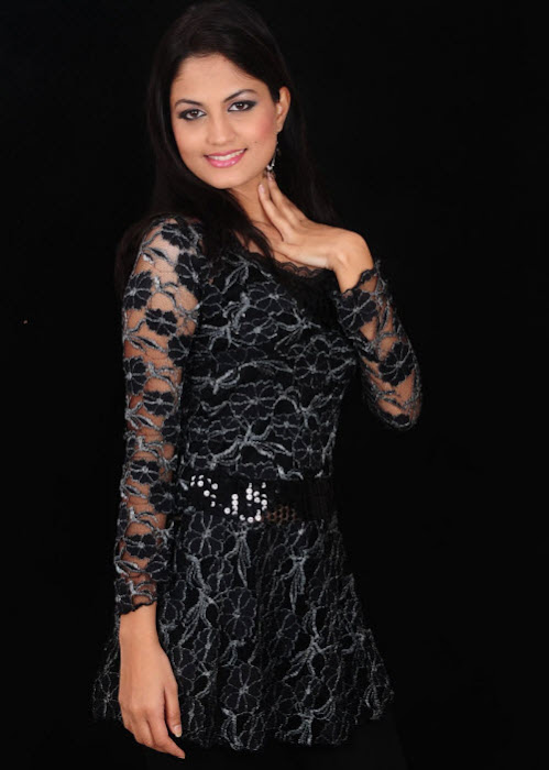 madhulika in black dress hot images