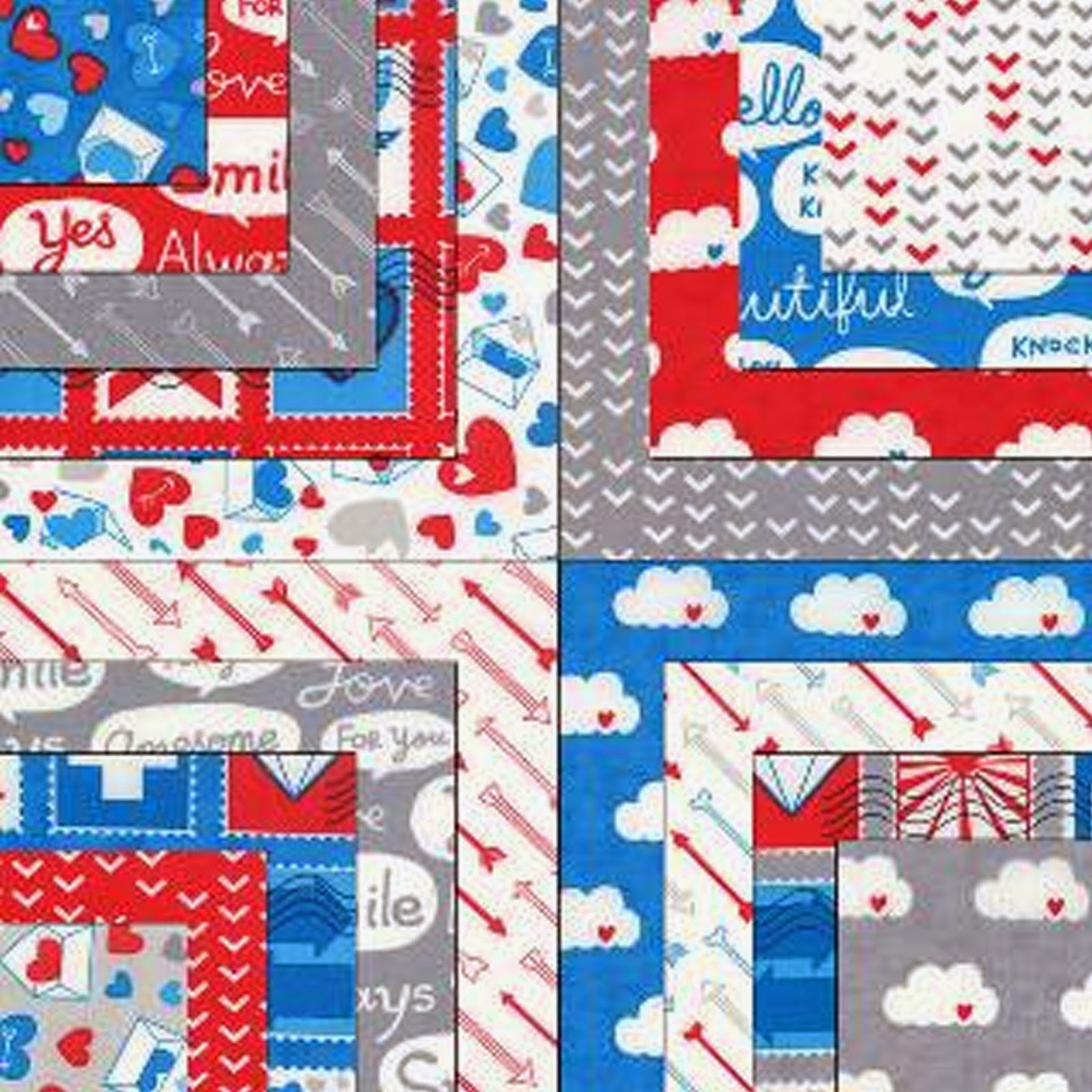 Moda AIRMAIL Fabric by Eric & Julie Comstock
