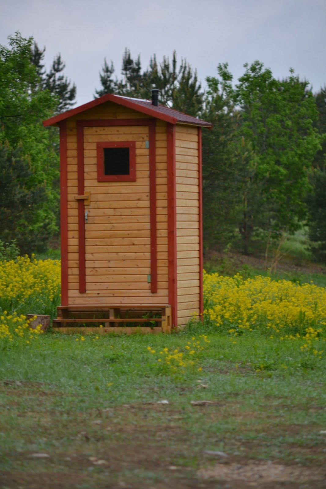Как сделать в деревне туалет фото