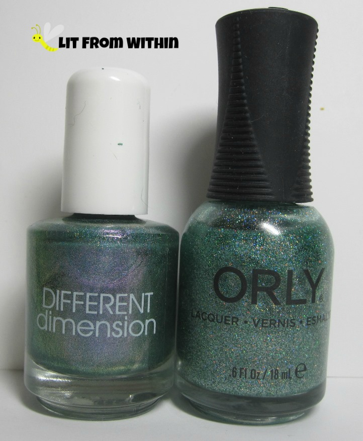 Bottle shot:  Different Dimension Mistle-Toad, and Orly Sparkling Garbage
