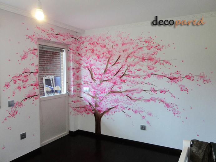 Decopared murales de rboles - Pintar mural en pared ...