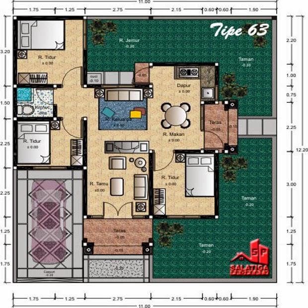 Desain Rumah Minimalis Hook Type 63