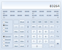 Use calculator to convert Decimal to Hexadecimal