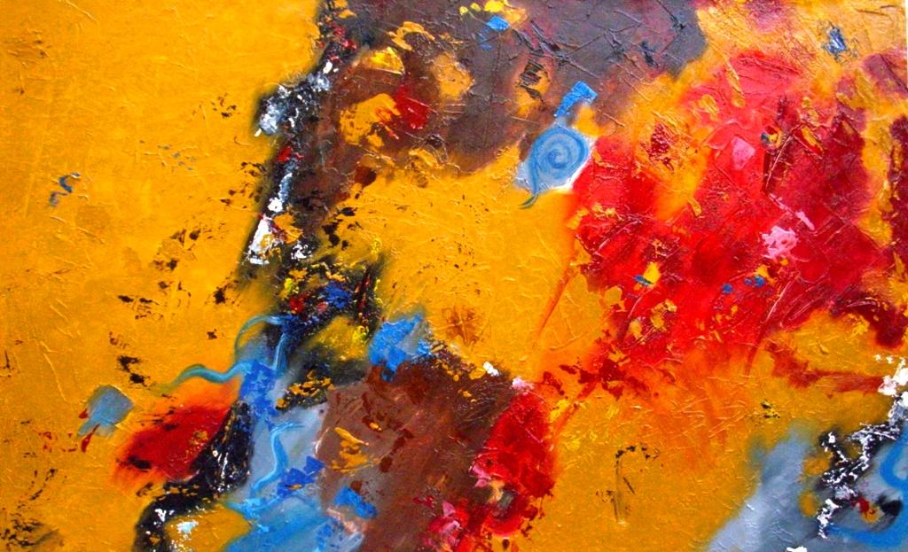 Cuadros pinturas oleos arte pintura moderna - Cuadros colores vivos ...