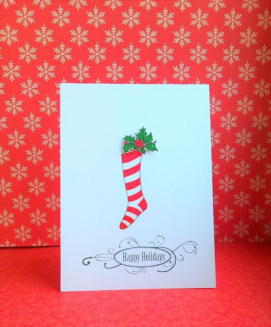 Рождественская открытка своими руками.