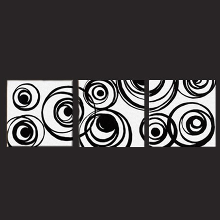 Cuadro abstracto blanco y negro imagui - Cuadro blanco y negro ...