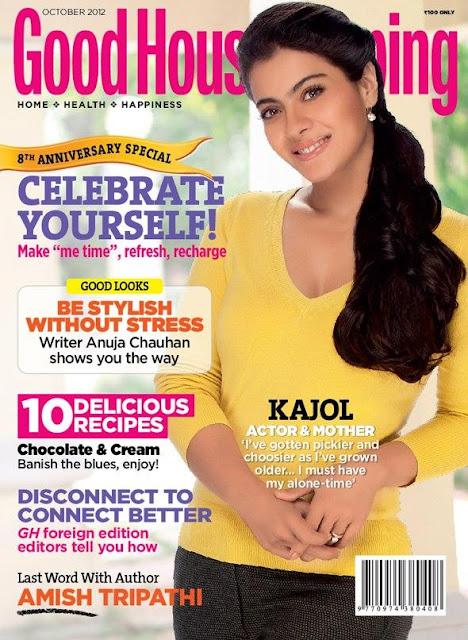 Kajol Devgn on the cover page of Good Housekeeping magazine