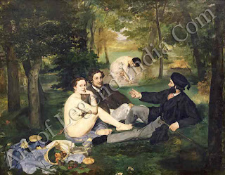 Manet's outrageous painting, The Luncheon on the Grass (1863) broke art's most sacred convention: nudes should be goddesses, not real women sitting with fully-dressed gentlemen.