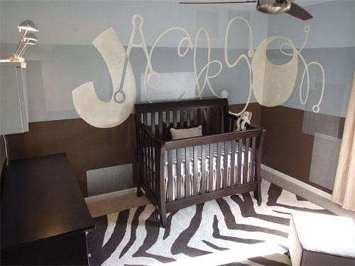 La habitaci n del beb en color chocolate decorar tu - Color paredes habitacion bebe ...