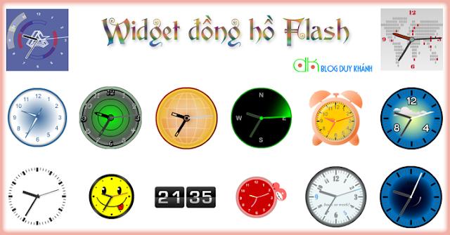 Flash clock - Thêm đồng hồ cho blog của bạn