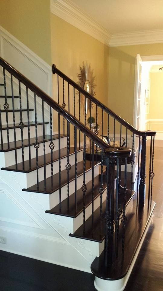 iron baluster installation roswell