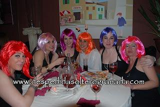 Despedida de soltera en restaurante Mamma mía Granada 2
