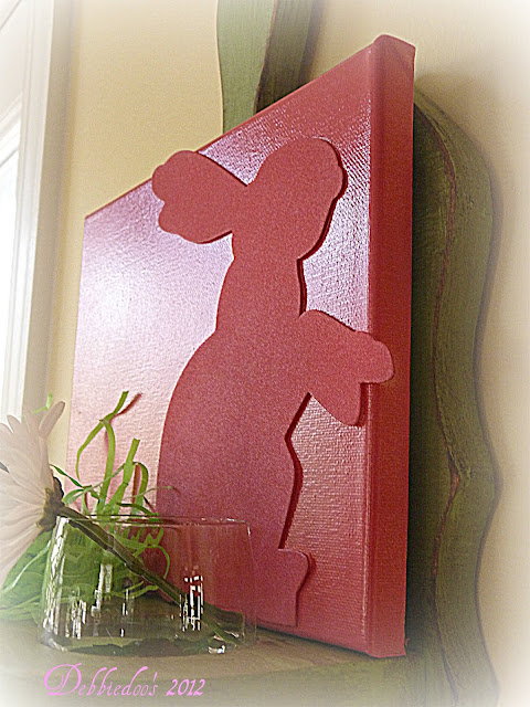 bunny Spring art work {diy canvas}