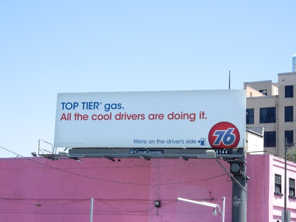 Top Tier 76 gas billboard