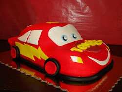 Bolo Cars Faisca Mcqueen 3D