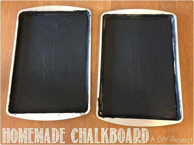 How to make a homemade Magnetic Chalkboard Tray #DIY #CraftsForKids