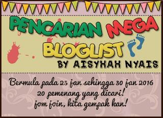 Pencarian Mega Bloglist Aisyhah Nyais