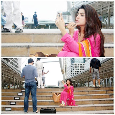 Sohai Ali Abro With Drama Serial Tanhai Team