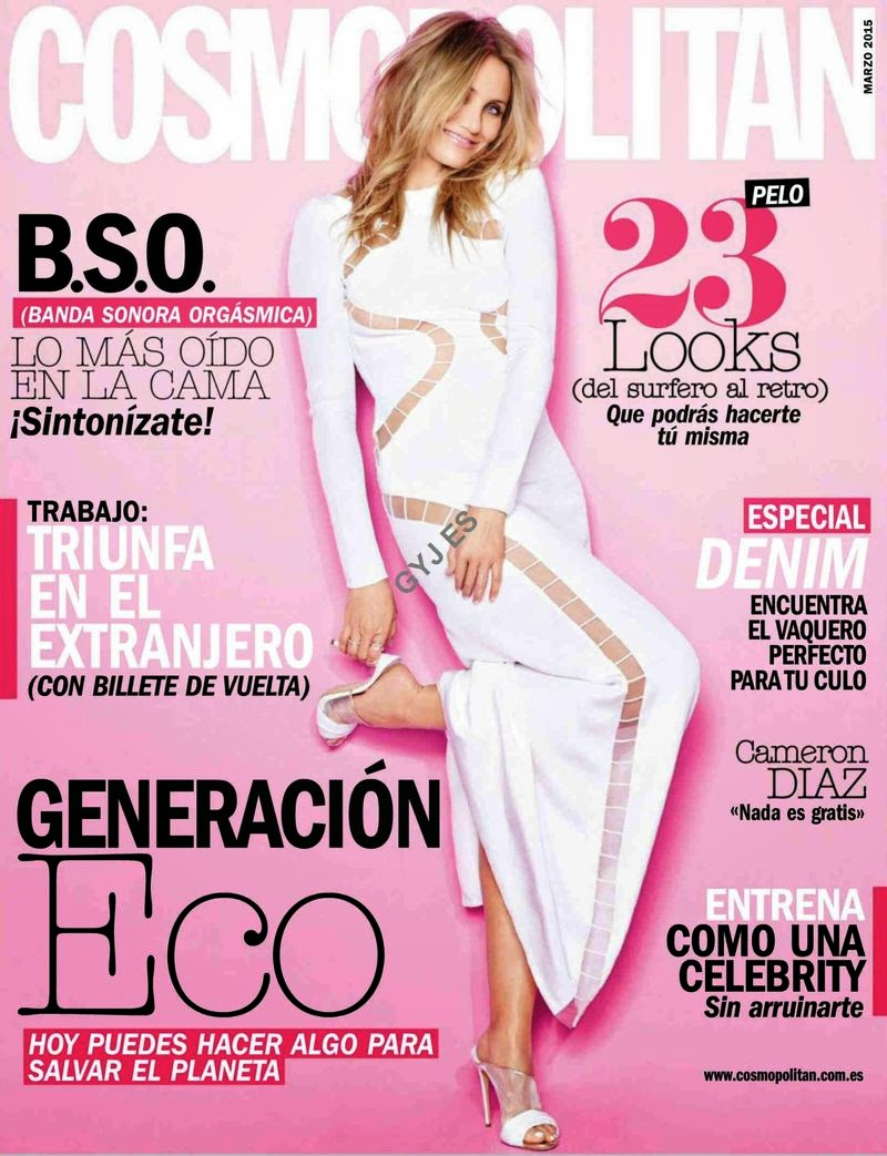 Actress: Cameron Diaz - Cosmopolitan Spain March 2015