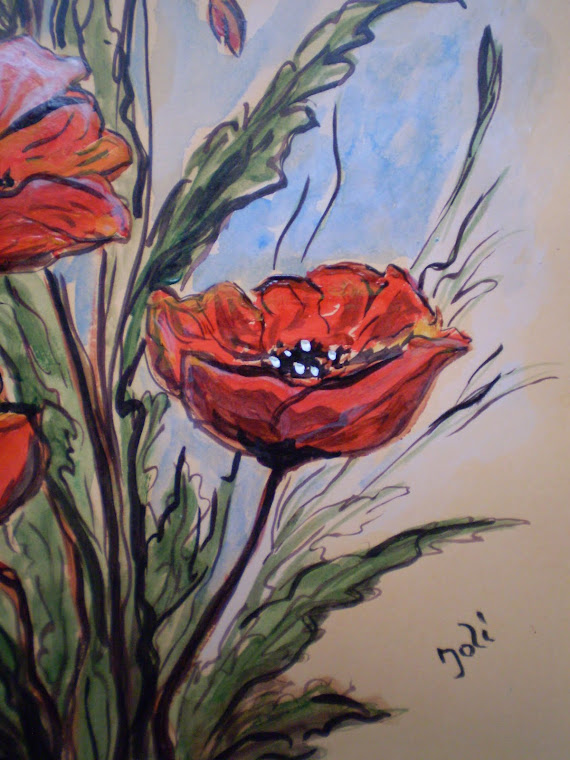 Poppies PA5, acrylic, DETAIL