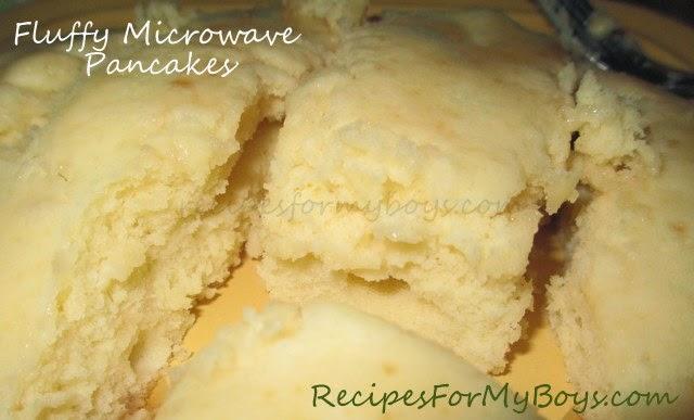 Fluffy Microwave Pancakes