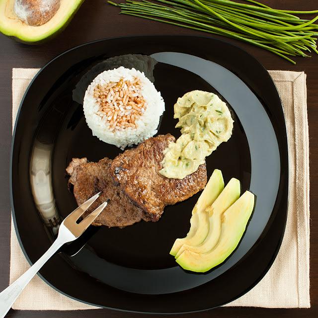 Мясо с авокадо
