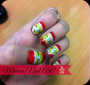 christmas minion nail art editing
