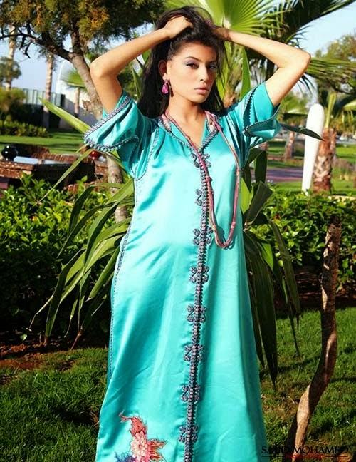 Djellaba marocaine bleu ciel class 2014