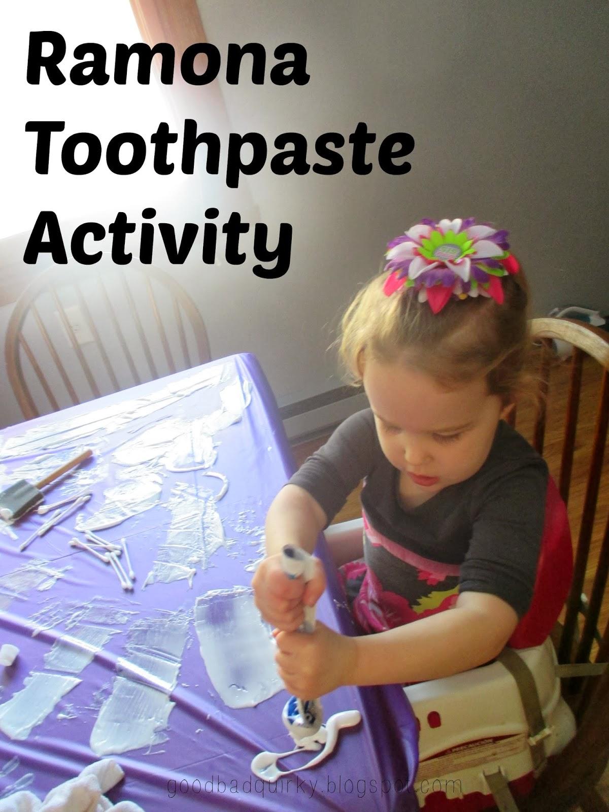 Ramona Toothpaste Activity
