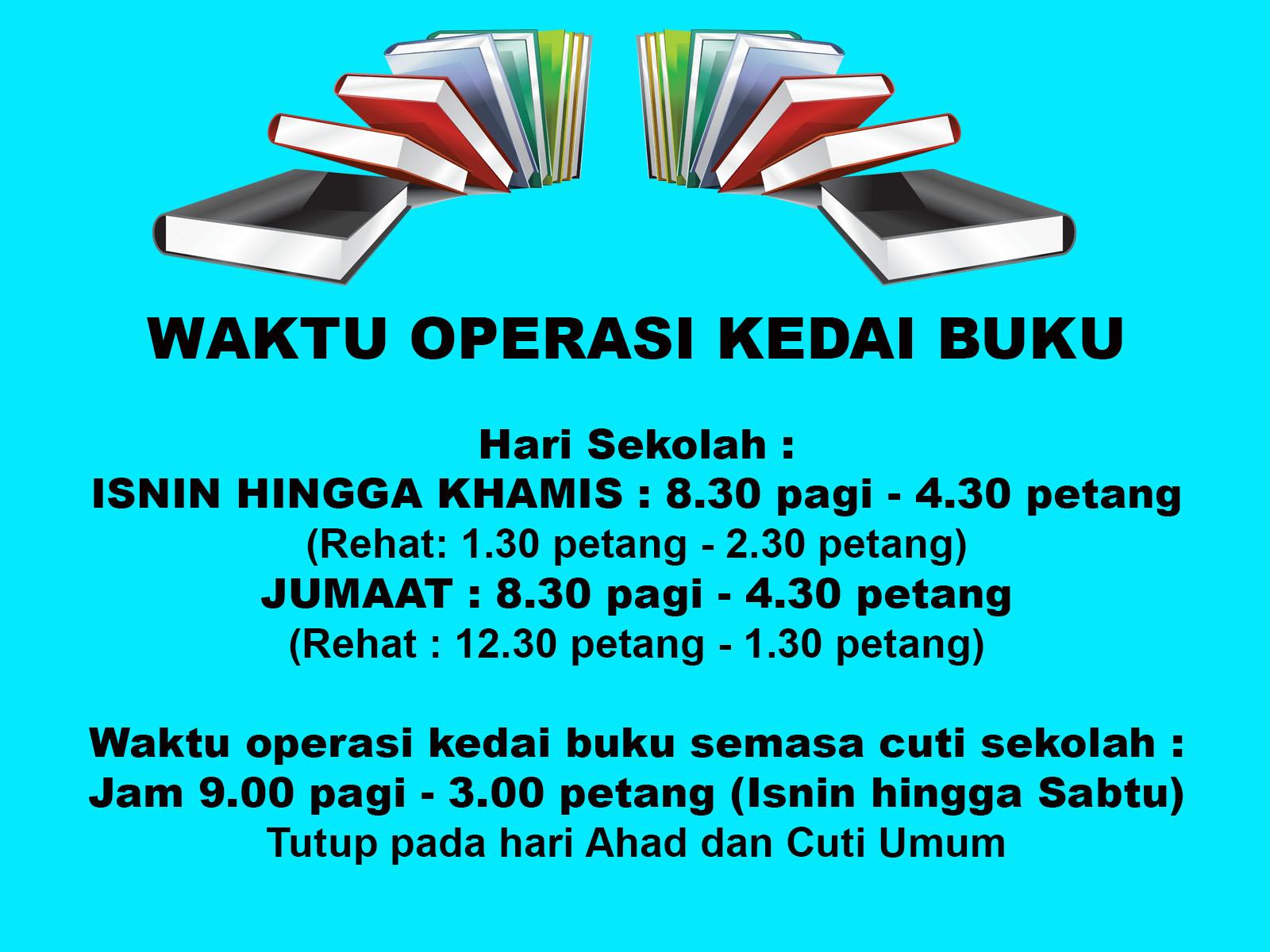 Waktu Operasi Kedai Buku