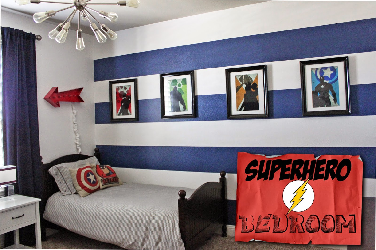 Superman Themed Bedroom A Little Of This A Little Of That Boys Superhero Room Tour