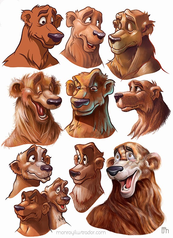 Character design (Expressions) Color styles