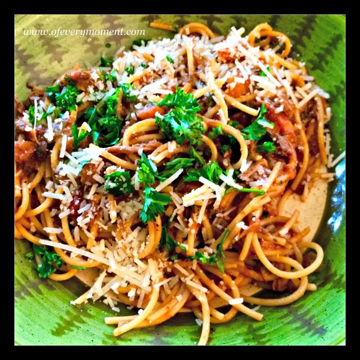 pasta recipe, shredded beef, ragu sauce