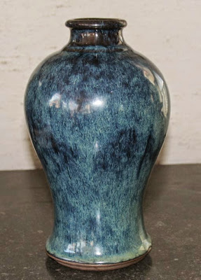 Chinese flambe glaze yixing vase Dupont family collection