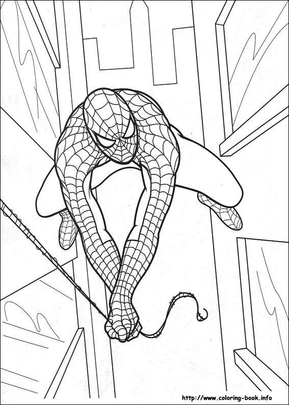 ภาพระบายสี Spiderman Spiderman Coloring pages title=