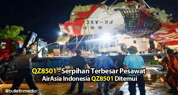 QZ8501 Serpihan Terbesar Pesawat AirAsia Indonesia QZ8501 Ditemui