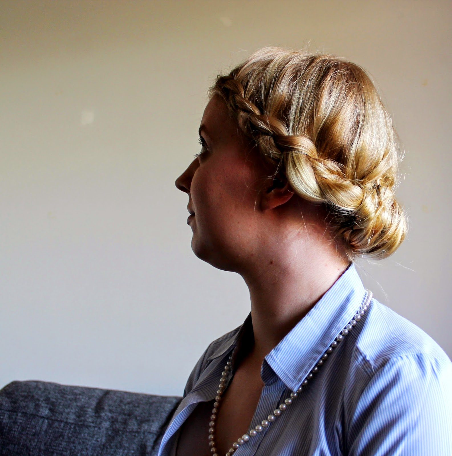 Game of thrones braid and updo from side | Alinan kotona blog