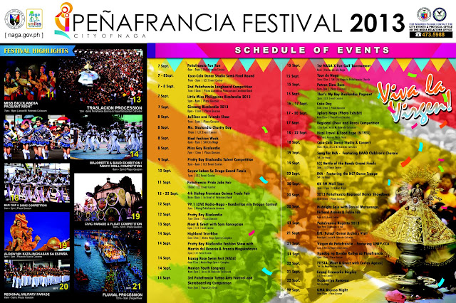 Peñafrancia 2013 Schedule