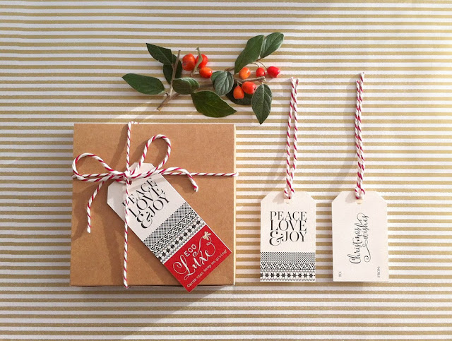 striped twine gift wrap