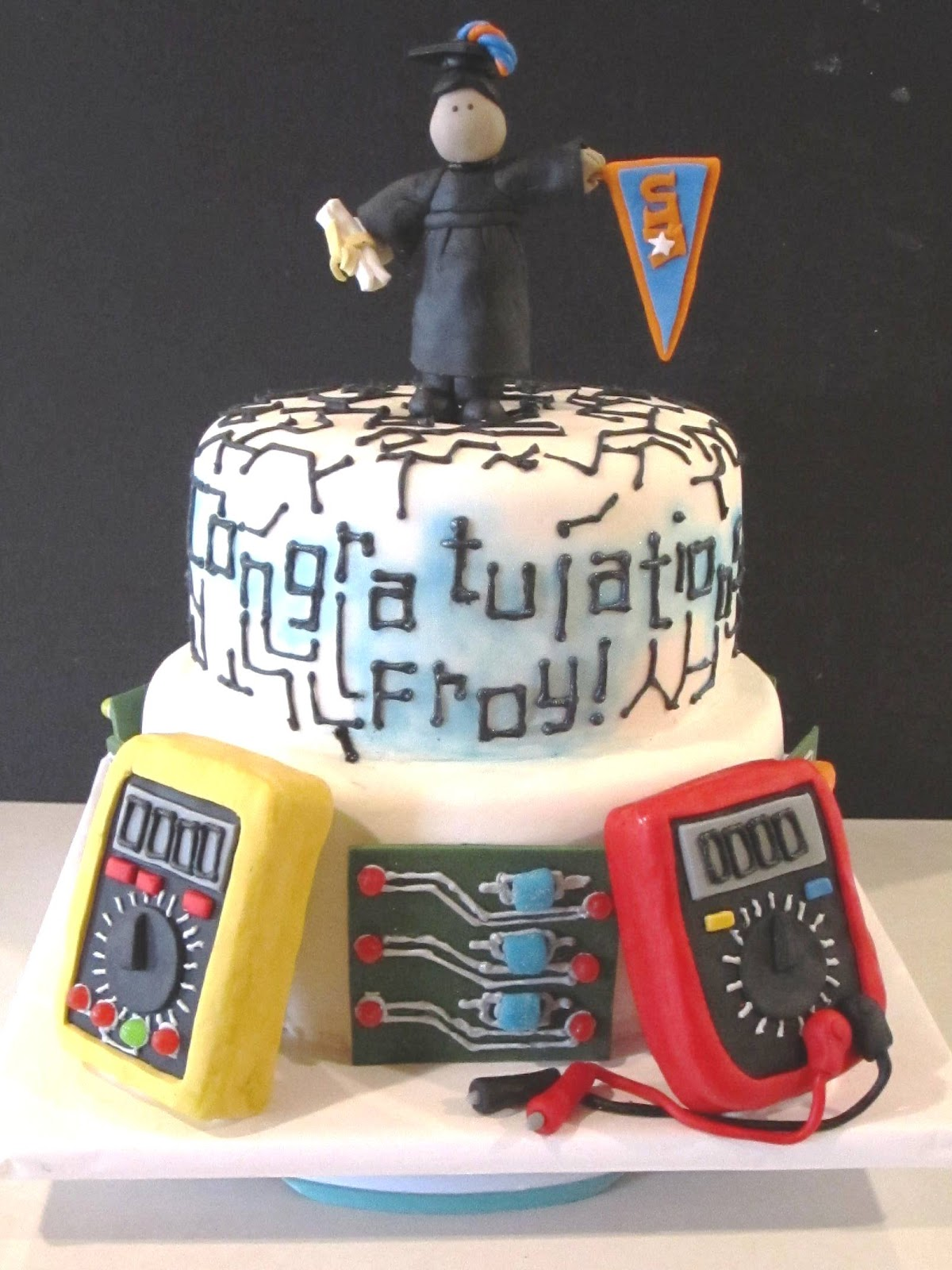 Cake Decorating Ideas Electrician : Frosted Insanity: Electrical Engineer Cake