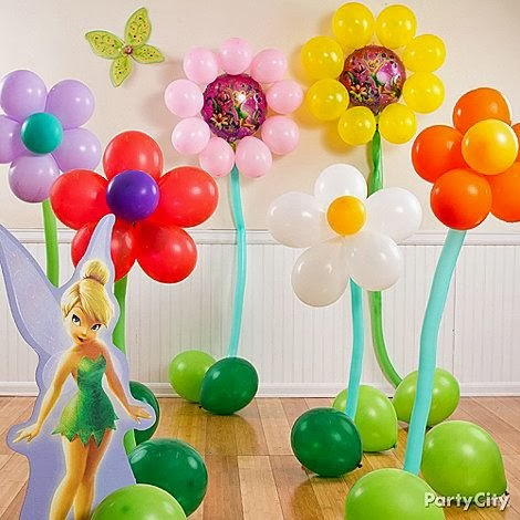 Make Balloon Flowers for a Girl's Party.