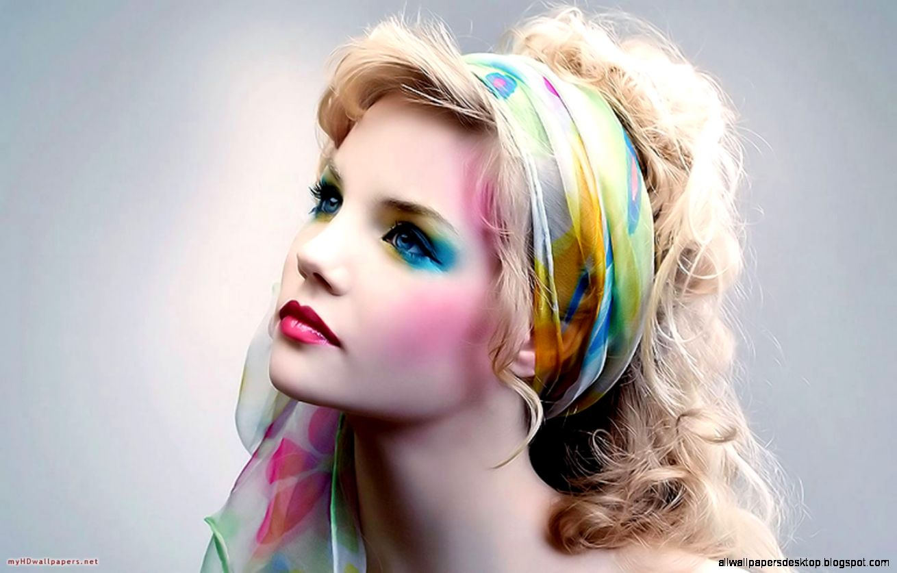 My HD Wallpapers » Blog Archive Girl colorful portrait   My HD