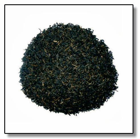 Hojas de té negro