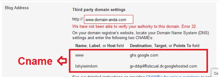 cara mengubah blogspot menjadi com